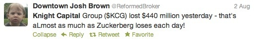 Knight Capital's Bad Week In Tweets