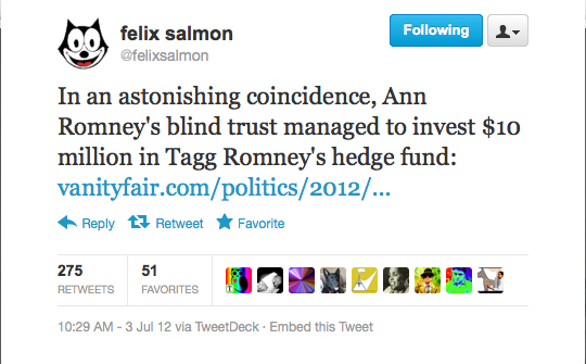 From Romney's Hedge Fund Family Tree to Parliament's HF Treasure Chest: The Top Hedge Fund Tweets