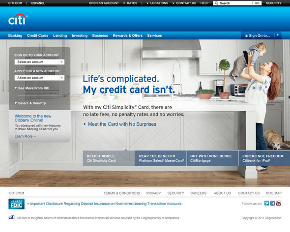 Inside the Citibank.com Redesign