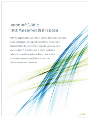 Lumension Guide to Patch Management Best Practices