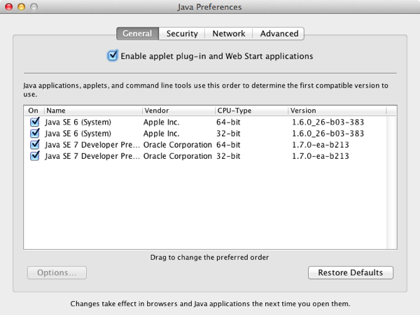 java 7 for 32 bit mac