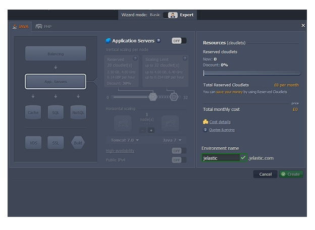 Jelastic 1.9 PHP Cloud Hosting Platform Arrives