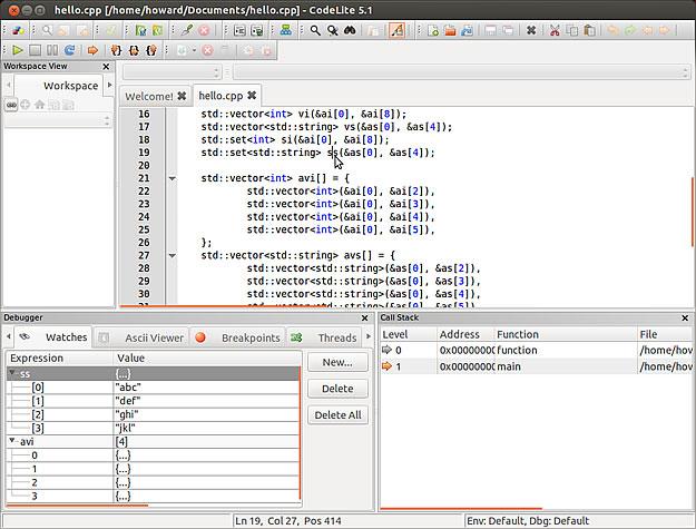 Codelite 5.1