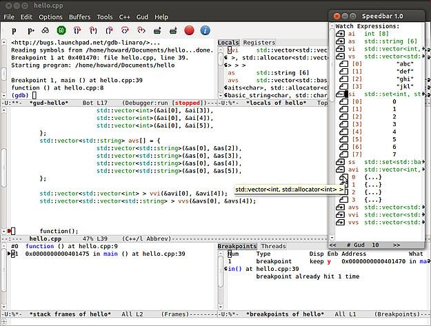 GNU Emacs' GDB mode