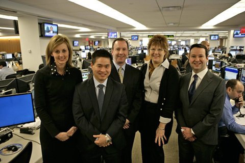Jennifer Winstel, Deborah Freer; (Front Row) Bradley Katsuyama, Jeff Fields