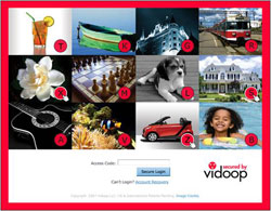 Vidoop´s ImageShield technology uses a combination of images and one-time passwords to authenticate online users.