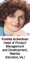 Fredda Ackerman, Mantas
