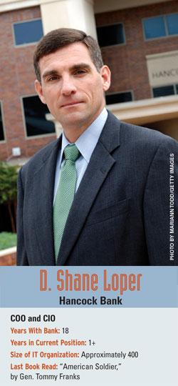 D. Shane Loper, Hancock Bank