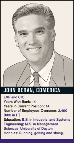 John Beran, Comerica