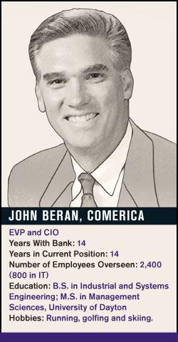 John Beran, Comerica
