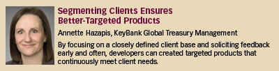 Annette Hazapis, KeyBank Global Treasury Management
