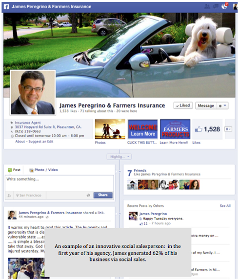 James Peregrino, Farmers Insurance Facebook