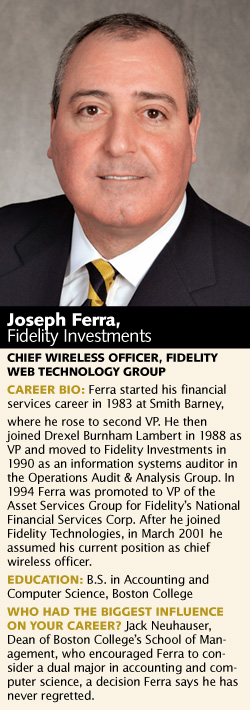 Joseph Ferra, Fidelity