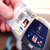 Radio-frequency equipped devices touted as a more convenient alternative to debit cards