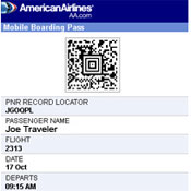 American Airlines' Mobile Boarding Pass