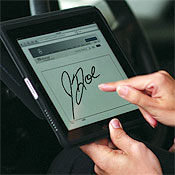 Just sign on the iPad's dotted line