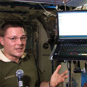 In Space: Foursquare got NASA astronaut Douglas Wheelock to check in from the International Space Station, claiming a digital badge the site created for him. The point? Well ... because you can.