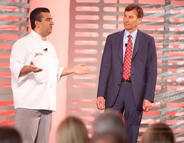 'Cake Boss' star Buddy Valastro and Avaya executive Alan Baratz