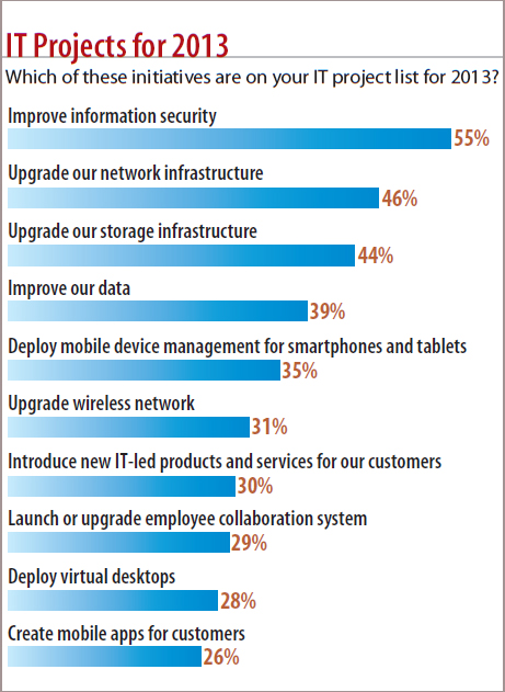 chart: IT Projects For 2013