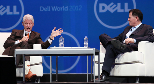 Bill Clinton and Michael Dell