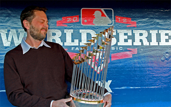 Fritz Nelson with World Series Trophy