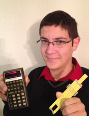 Pocket Calculator and Slide Rule