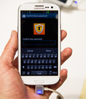 Samsung Smartphone Running Knox