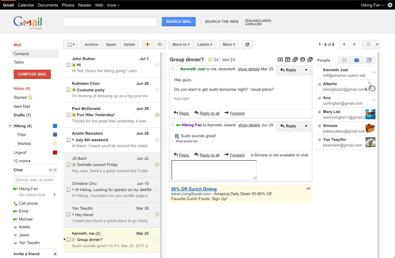 Gmail Preview Pane