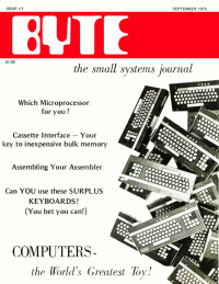 The first issue of BYTE