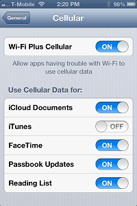 iOS 6 Wi-Fi+Cellular app