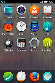 Mozilla Firefox OS home screen