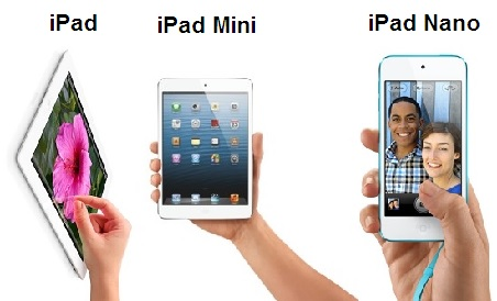 iPad, iPad Mini, iPad nano (April Fools' Day)