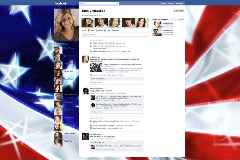 PageRage gives the user a variety of themes for their Facebook page, but shows ads in the themes.