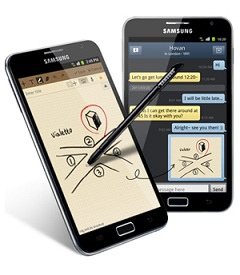Samsung Galaxy Noe with stylus