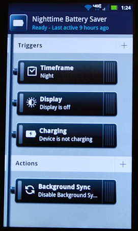 Droid 4 Nighttime Battery Saver