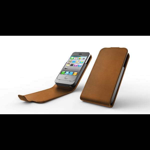 Boost Case Tan Leather Flip Case