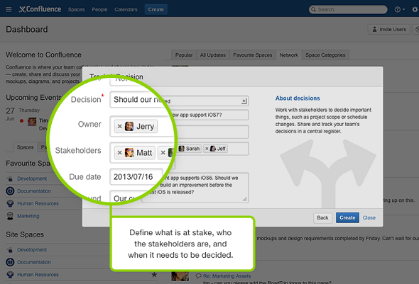 Atlassian improves confluence wiki with decisions tool confluence decisions blueprint guides decision making malvernweather Choice Image