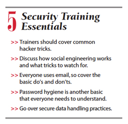 5 security training essentials
