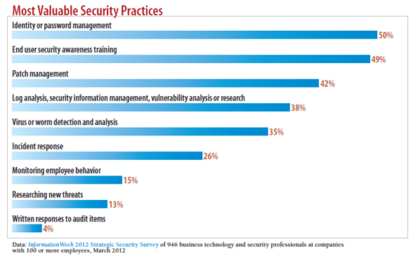 chart: what type of security breaches occured in your company in past year?