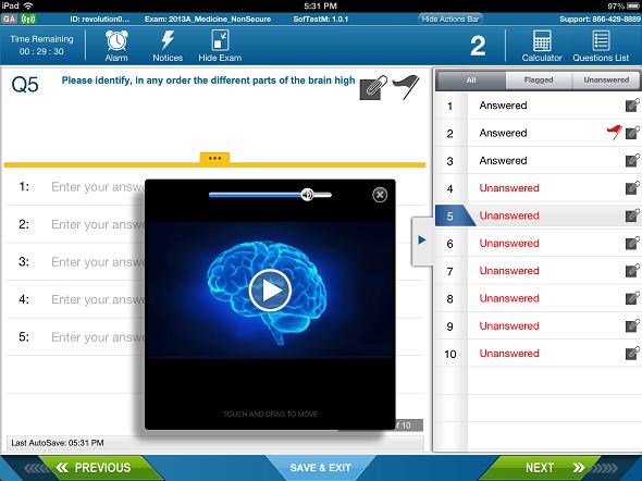 SofTest-M iPad app