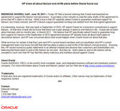 Oracle Press Release