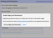 Enable Page-Level Permissions