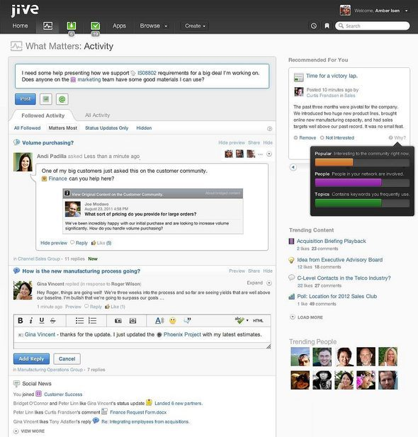 Jive Software: An Annotated Social Feed
