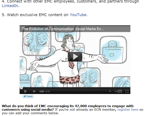 EMC Wants YOU To Be Social