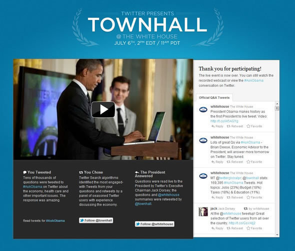 White House Town Hall Tweets