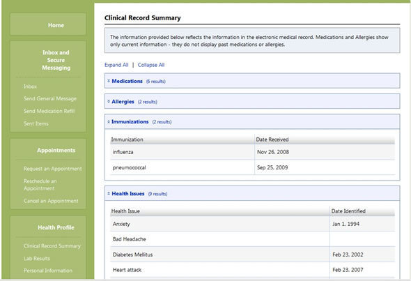 Cerner Patient Portal