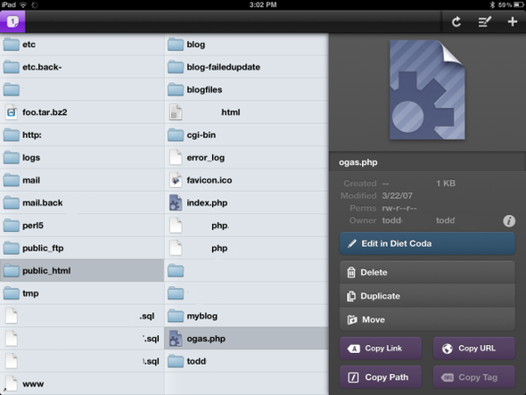 Diet Coda: Visual Tour Of An iPad Code Editor