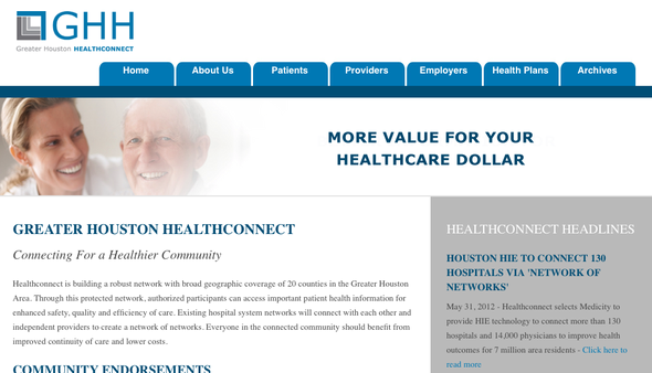 Greater Houston Health Information Exchange (a.k.a. HealthConnect)