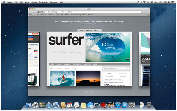 OS X Safari, Tabbed