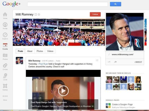 Romney On Google+